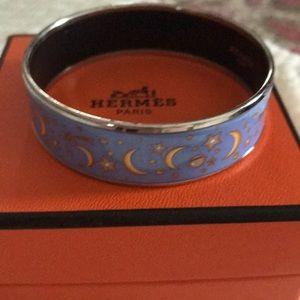 Hermes enamel bracelet and earrings - RARE!